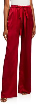 Naeem Khan Silk Drawstring Pants