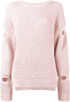 Preen by Thornton Bregazzi waffle knit jumper - women - Cotton/Acrylic - XS