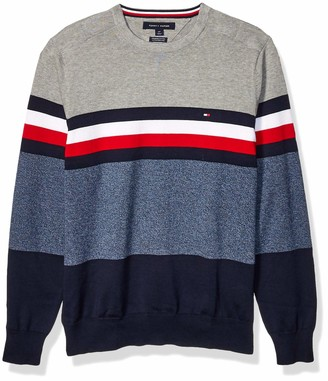 Tommy Hilfiger Men's Adaptive Sweater with Velcro Brand Closure at Shoulders