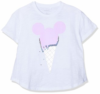 Name It Girl's Nkfminnie Unique Ss Oversize Top Wdi T-Shirt