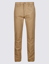 M&s Collection Big & Tall Straight Fit Jean Style Trousers