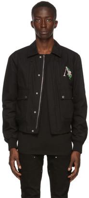 Amiri Black Floral Logo Jacket