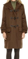 Max Studio Heavy Wool Hooded Toggle Coat