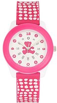 Lulu Castagnette Girl's Quartz Watch with White Dial Analogue Display and Plastic Bicolour - G38004