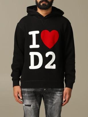 DSQUARED2 Sweatshirt Cotton Sweatshirt With I Love D2 Logo