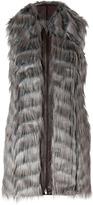 Rachel Zoe Taupe Grey Vintage Faux Fur Marianne Vest