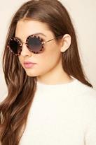 Forever 21 FOREVER 21+ Contrast Round Sunglasses
