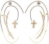 Charlotte Russe Cross Ear Crawler & Stud Earrings Set