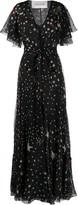 Valentino Star-Print Gown