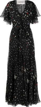 Valentino Star-Print Gown