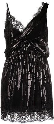 Ermanno Scervino Sequin-Embellished Mini Dress