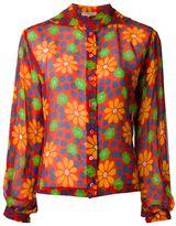 Yves Saint Laurent Vintage floral print blouse