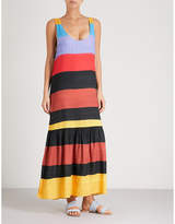 Mara Hoffman Valentina striped woven maxi dress