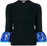 Emilio Pucci printed cuff jumper - women - Silk/Virgin Wool - XS