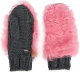 Prada fur patch mittens