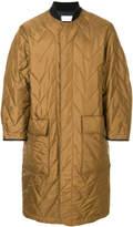 Reality Studio long quilted zip coat