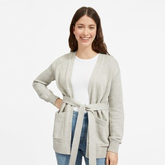 Everlane The Soft Cotton Wrap Cardigan