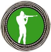 GiftJewelryShop Ancient Style Silver Plate Olympics athlete shooting target Winding Pattern Pins Brooch