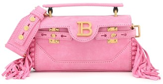 Balmain B-Buzz 19 fringed suede shoulder bag
