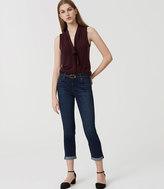 LOFT Modern Skinny Crop Jeans in Staple Dark Indigo Wash