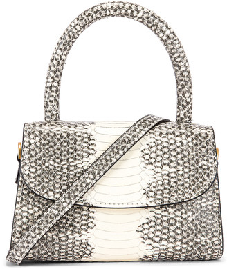 BY FAR Mini Snake Print Leather Bag in Graphic | FWRD