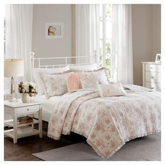Nobrand No Brand Coral Desiree Cotton Percale Quilt Set