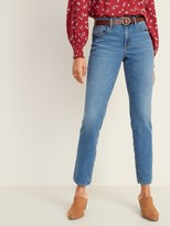 Old Navy Mid-Rise Power Slim Straight Jeans for Women