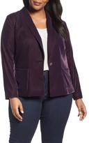 Sejour Plus Size Women's Velvet Blazer
