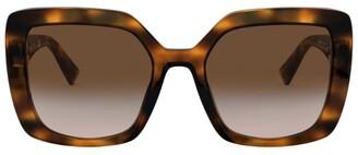 Valentino Square Tortoiseshell Sunglasses