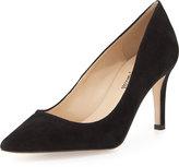 Neiman Marcus Cissy High-Heel Point-Toe Pump, Black
