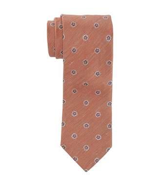 Eton Silk/Linen Floral Medallion Tie