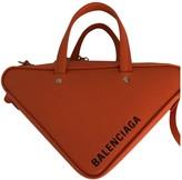 Balenciaga Triangle Orange Leather Handbags