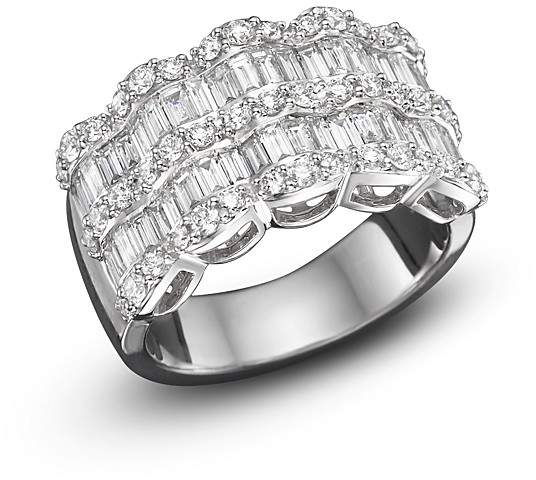 Bloomingdale's Baguette Diamond Statement Ring in 14K White Gold, 1.75 ct. t.w.