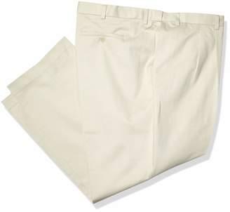 Savane Men's Big & Tall Wrinkle Free Pleated Twill Pant