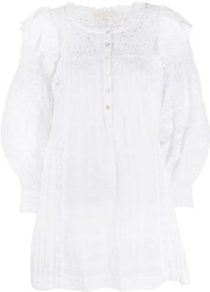 LoveShackFancy Baxter lace mini dress