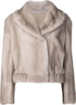 Brunello Cucinelli Mink Cropped Coat