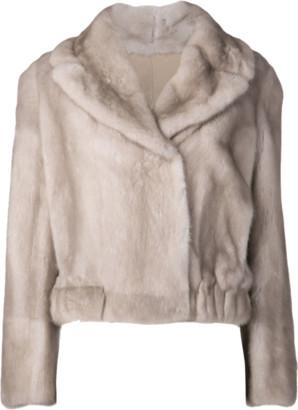 Brunello Cucinelli Mink Cropped Coat