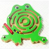 HSE Children's Wooden Labyrinth Board Game Ball in Maze Puzzle, Rolling Balls Concentration Game Baby Preschool Educational Toy Building Blocks As a Christmas and Birthday Gift- Frog by Hot Sale Everything-WQL