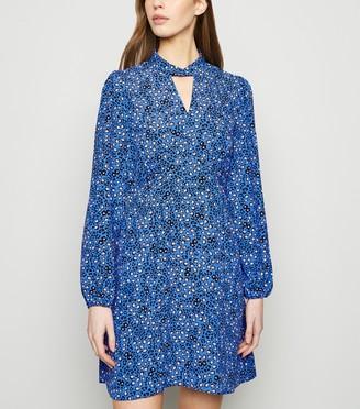 New Look Animal Print Twist Neck Tunic Dress