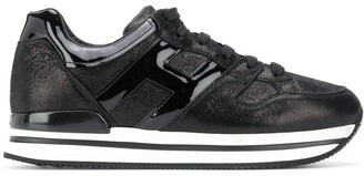 Hogan H222 patent leather sneakers