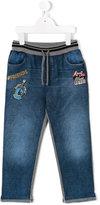 Dolce & Gabbana patchwork jeans - kids - Cotton/Polyester/Polypropylene/Viscose - 3 yrs