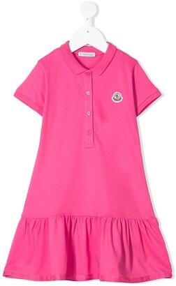 Moncler Enfant Pleated Polo Dress
