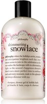 philosophy 'shimmering snowlace' shampoo, shower gel & bubble bath (Limited Edition)
