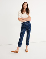 Madewell The High-Rise Slim Crop Boyjean: Bleached Dot Edition