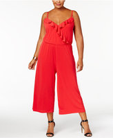 NY Collection Plus Size Ruffled Gaucho Jumpsuit