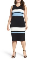Vince Camuto Plus Size Women's Stripe Sheath Dress