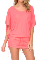 Luli Fama Cosita Buena Cover Ups South Beach Dress In Fire Coral (L177968)