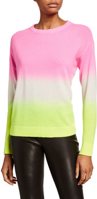 Alice + Olivia Gleeson Dip-Dye Long-Sleeve Pullover