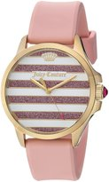 Juicy Couture Women's 'Jetsetter' Quartz Gold-Tone and Silicone Casual Watch, Color: (Model: 1901572)