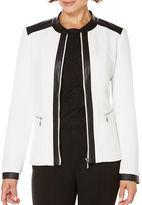 Rafaella Textured Colorblocked Jacket